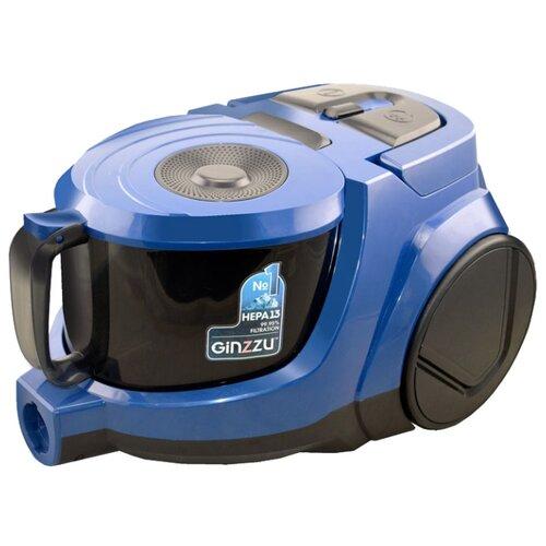 Пылесос Ginzzu VS438 черный/синий