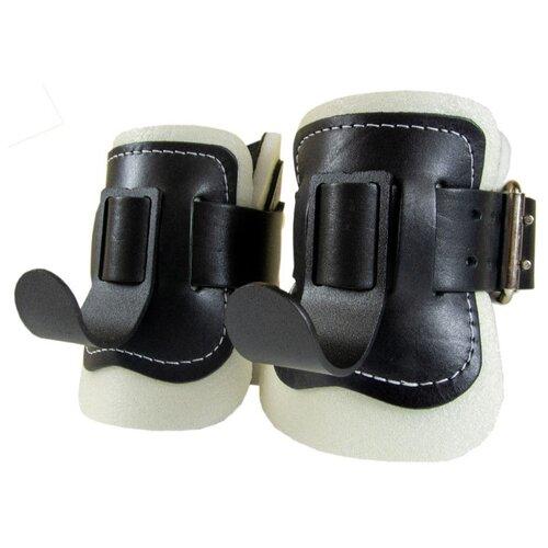 Ботинки гравитационные (инверсионные) подростковые ReKoy F08 кожаные, черно-белые