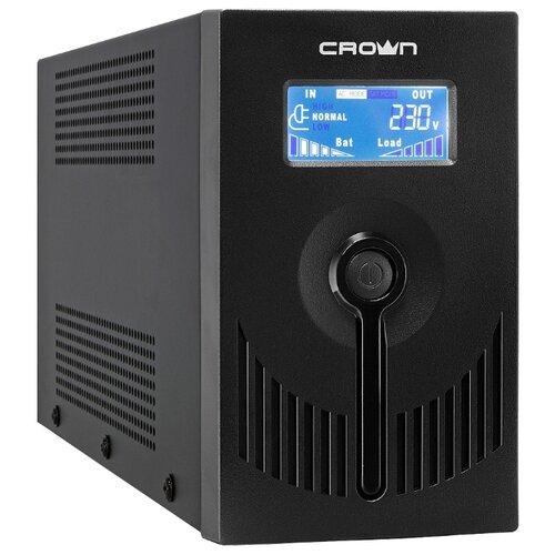 Интерактивный ИБП CROWN MICRO CMU-SP650 IEC LCD USB черный ибп crown cmu sp650 iec lcd usb 650va