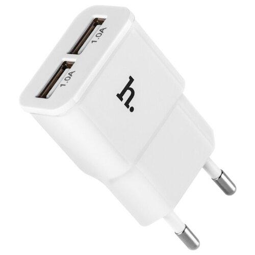Сетевая зарядка Hoco UH202 Smart, белый сетевая зарядка hoco c12 smart белый