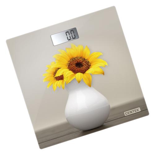 Весы напольные Centek CT-2428 Sunflower электронные 180кг 01кг LCD 65x28 размер 28х28см