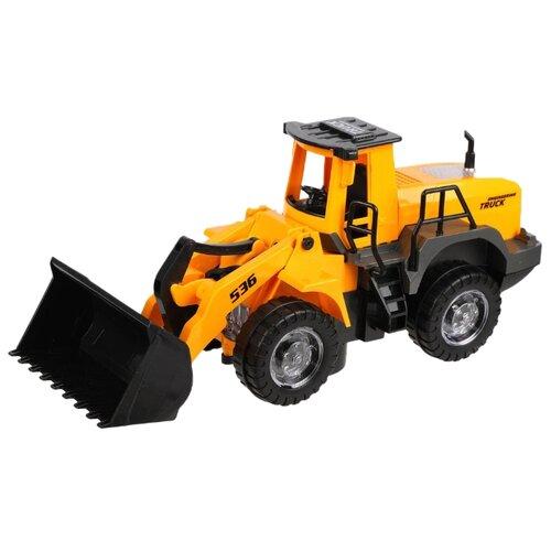 Экскаватор Наша игрушка YF3078A 29 см черный/желтый