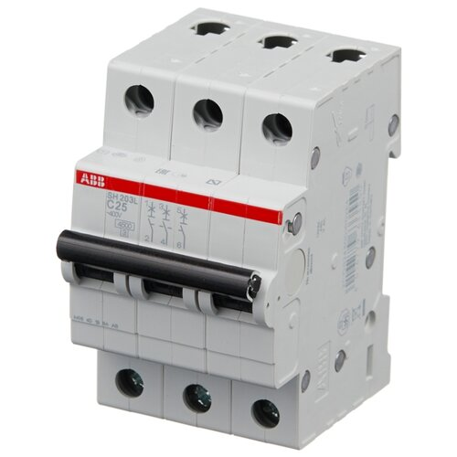 Автоматический выключатель ABB SH203L 3P (С) 4,5kA 25 А автомат abb sh203l c25
