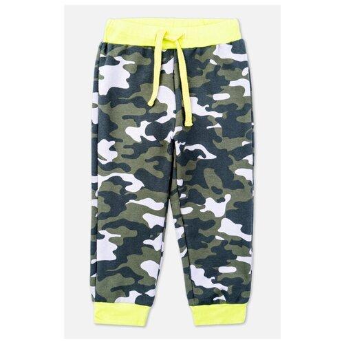Купить Брюки playToday Free style 397108 размер 74, темно-зеленый/зеленый/светло-зеленый, Брюки и шорты