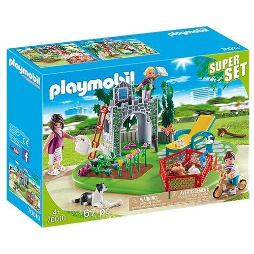 Купить Набор с элементами конструктора Playmobil Country 70010 Семейный сад, Конструкторы