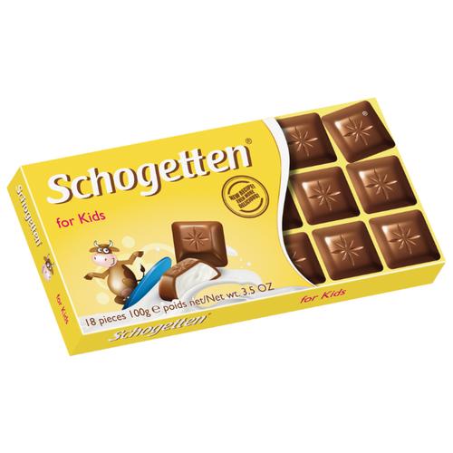 Шоколад Schogetten for Kids молочный с молочной начинкой порционный, 100 г