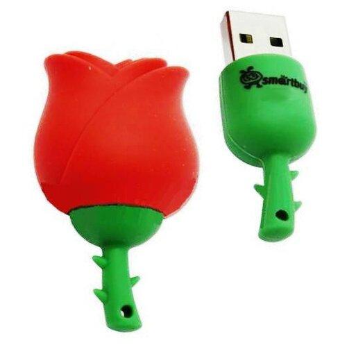 Фото - Флешка SmartBuy Rose 16GB красный/зеленый автокресло britax roemer baby safe wine rose trendline 2000027813