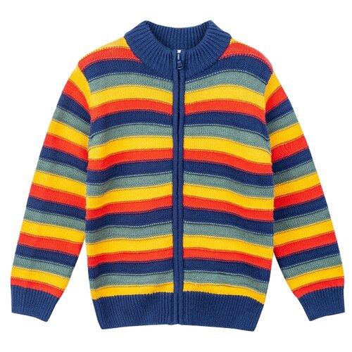 Кардиган playToday размер 116, темно-синий, темно-зеленый, желтый, красный, Свитеры и кардиганы  - купить со скидкой