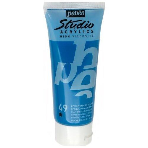 Купить Pebeo Краска акриловая Studio Acrylics, 100 мл циан, Краски