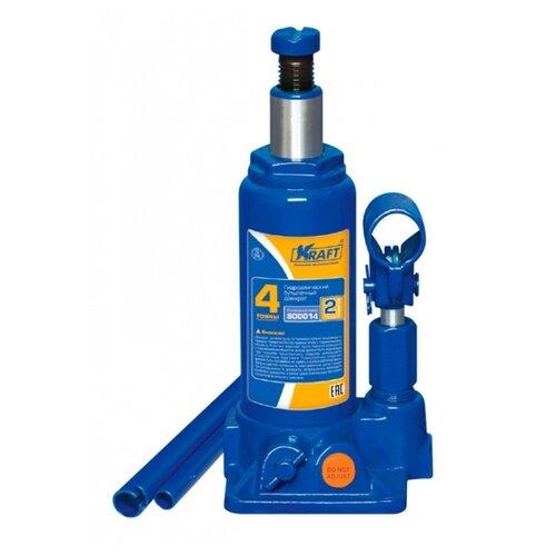 Домкрат бутылочный гидравлический KRAFT КТ 800014 (4 т) синий
