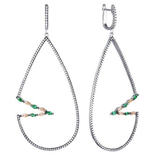 JV Серебряные серьги с фианитом E26752-W2-SR-001-WG