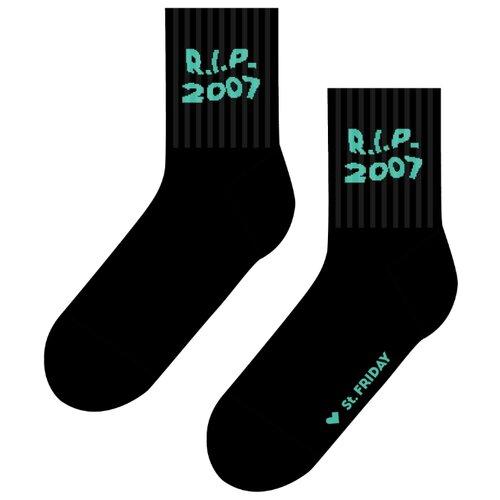 Фото - Носки St. Friday прощай 2007, размер 34-37, черный носки st friday цой жив гуф умер размер 34 37 черный
