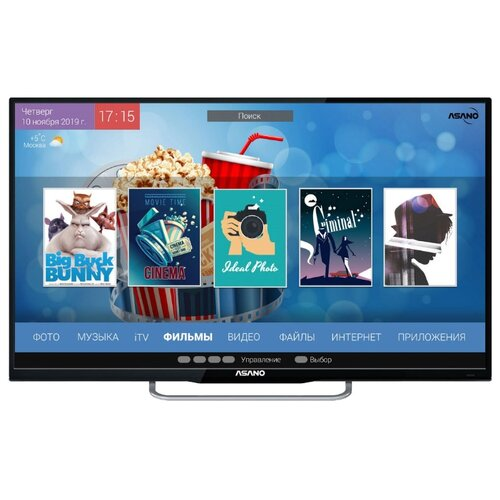 Телевизор Asano 43LU8030S 42.5 (2019) черный led телевизор asano 50 lf 7010 t черный