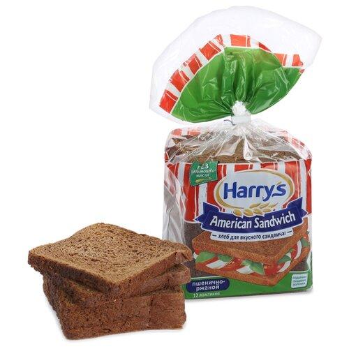Harrys Хлеб American Sandwich пшенично-ржаной сандвичный в нарезке 470 г