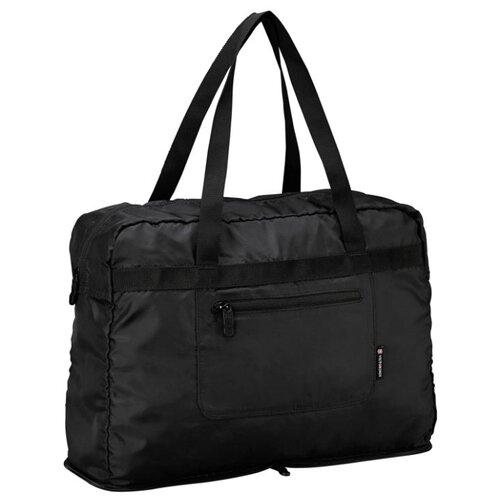 сумка планшет victorinox текстиль синий Сумка тоут VICTORINOX, текстиль, черный