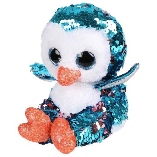цена на Мягкая игрушка Fluffy Family Пингвиненок из пайеток 15 см