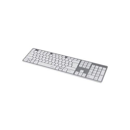 Клавиатура Hama Rossano белый/серебристый USB slim