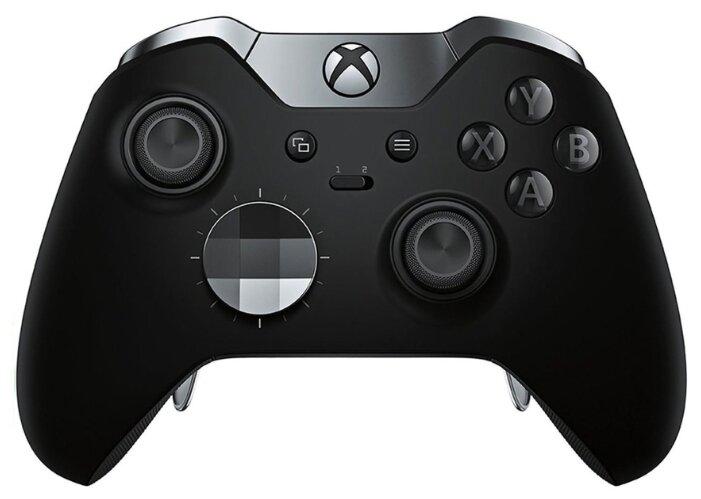 Беспроводной игровой джойстик Microsoft Wireless Controller Elite для Xbox One/One S черный HM3-00009