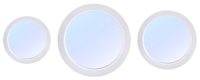 Зеркало Русские подарки набор из 3 шт 237915 27х27, 23х23, 17х17 в раме
