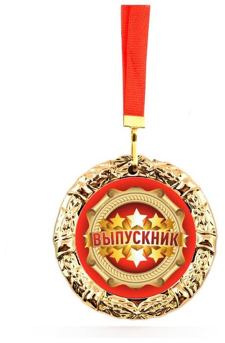 """Купить Медаль металлическая """"Выпускник/звезды"""" по низкой цене с доставкой из Яндекс.Маркета"""