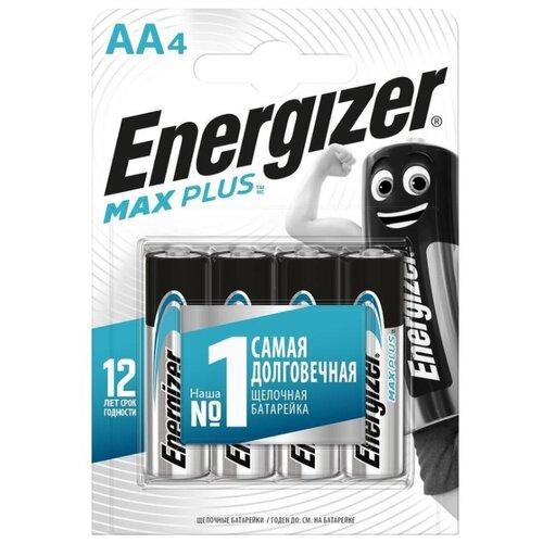 Фото - Батарейка Energizer Max Plus AA, 4 шт. батарейки energizer max типа e91 aa 4 шт 3 1 в подарок energizer