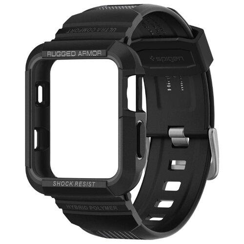 Чехол с ремешком Spigen Rugged Armor Pro для Apple Watch series SE/6/4 44 mm (Black)