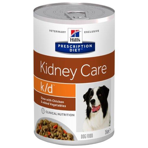 Влажный корм для собак Hill's Prescription Diet K/D Kidney Care при заболеваниях почек, курица 354г