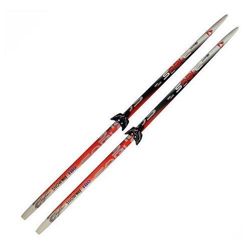 Беговые лыжи STC Sable Snowway с креплениями красный/серый 150 см
