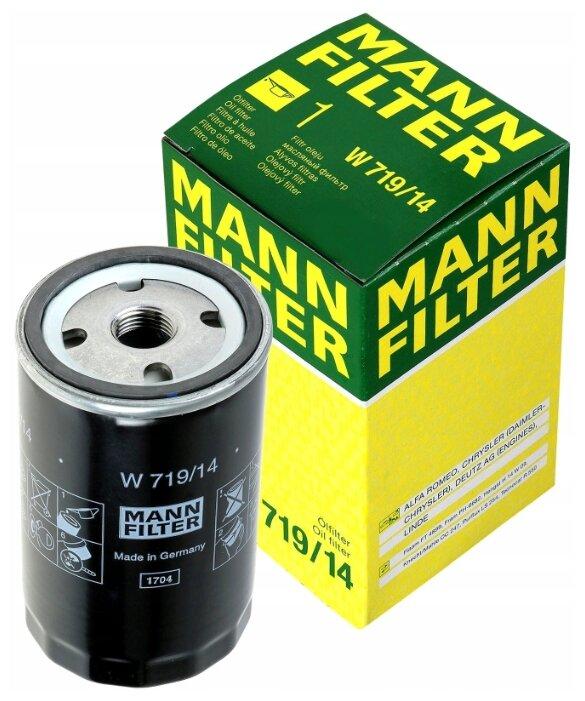 Масляный фильтр MANNFILTER W719/14
