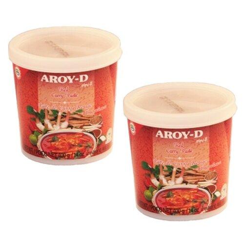 Паста карри красная Aroy-D (2 шт. по 400 г) паста чили с соевым маслом aroy d 260 г