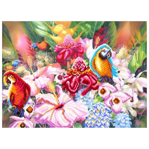 янтарная осень рисунок на шелке 37 49 37х49 29х39 матренин посад 4155 Цветущие тропики Рисунок на шелке 37/49 37х49 (28х38) Матренин Посад 4176
