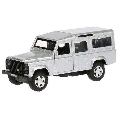Внедорожник ТЕХНОПАРК Land Rover Defender (DEFENDER-BK/SL) 12 см серебристый внедорожник технопарк renault koleos koleos bu gn sl bk 12 см черный