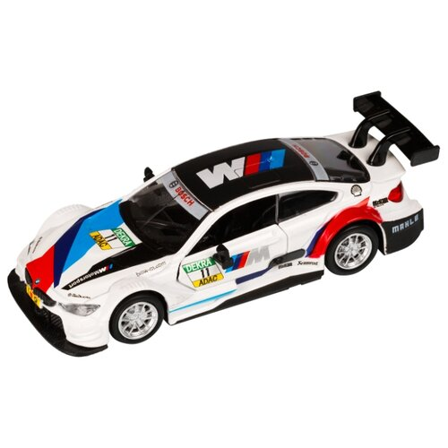 Купить Легковой автомобиль Автопанорама BMW M4 (JB1251210) 1:44 белый, Машинки и техника