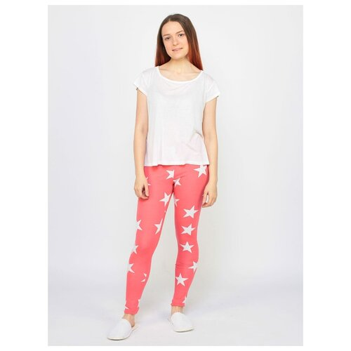 81011 Леггинсы, Liza Volkova, размер XL, состав: 95% хлопок + 5% лайкра, цвет Розовый