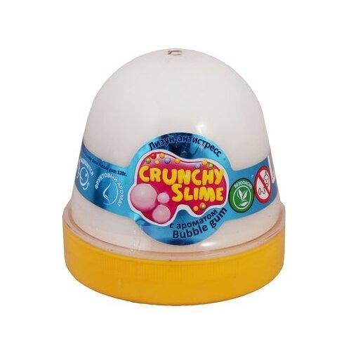 Лизун Mr.Boo! Crunchy slime с ароматом bubble gum белый