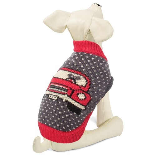 Фото - Свитер для собак Triol Машинка XXL темно-серый triol triol xxl подгузник для собак весом от 30 кг 10 шт