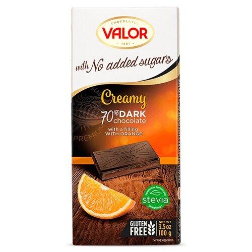Шоколад Valor горький без сахара с апельсиновой начинкой, 100 г туфли valor wolf valor wolf va090amcito7