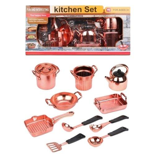 Набор посуды Наша игрушка Посуда шеф-повара 641923 бронзовый игрушка