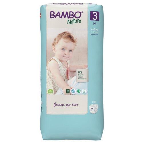 Купить BAMBO подгузники Nature 3 (4-8 кг) 52 шт., Подгузники