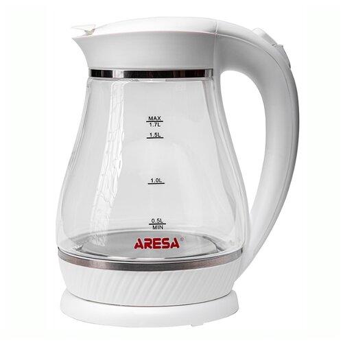 Фото - Чайник ARESA AR-3454, белый весы напольные aresa ar 4407