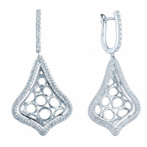 Фото - JV Серебряные серьги с кубическим цирконием DM0026E-SR-001-WG jv серебряные серьги с кубическим цирконием pv20969clrh00 sr 001 wg