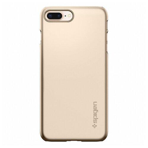 Фото - Чехол-накладка Spigen Thin Fit (055CS22) для Apple iPhone 8 Plus золотистый шампань чехол spigen thin fit white apple watch 4 44mm