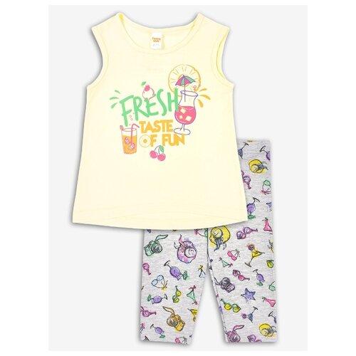 Комплект одежды Веселый Малыш размер 110, желтый/серый