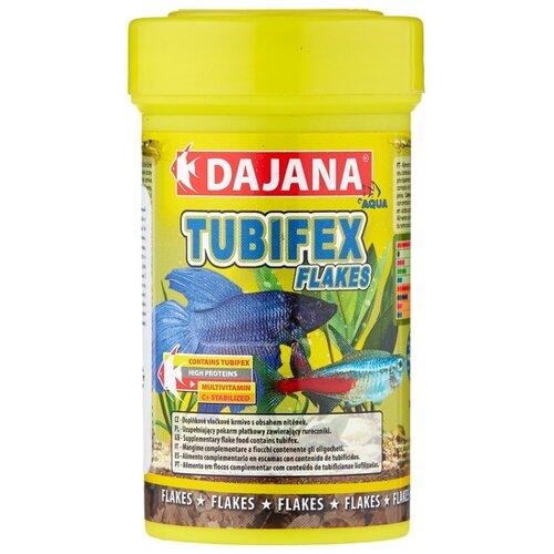 Сухой корм для рыб Dajana Pet Tubifex Flakes 100 мл 20 г сухой корм для рыб dajana pet malawi flakes 1000 мл 200 г