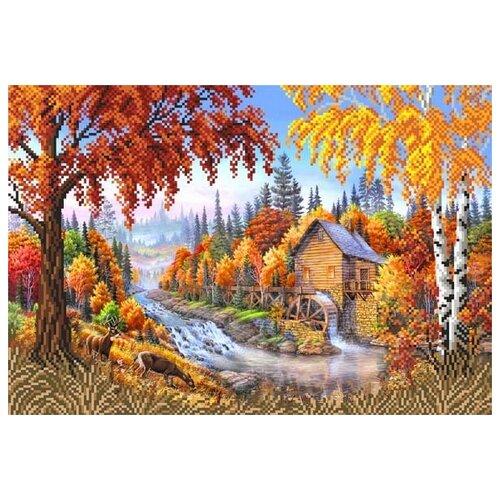 янтарная осень рисунок на шелке 37 49 37х49 29х39 матренин посад 4155 Осень Рисунок на шелке 37/49 37х49 (27х39) Матренин Посад 4125