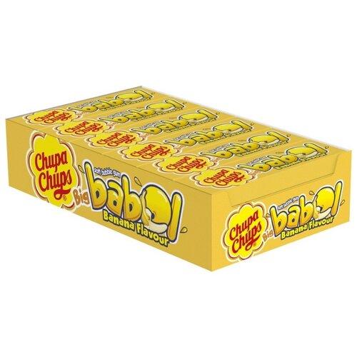 Жевательная резинка Chupa Chups Big Babol со вкусом банана, 24 шт