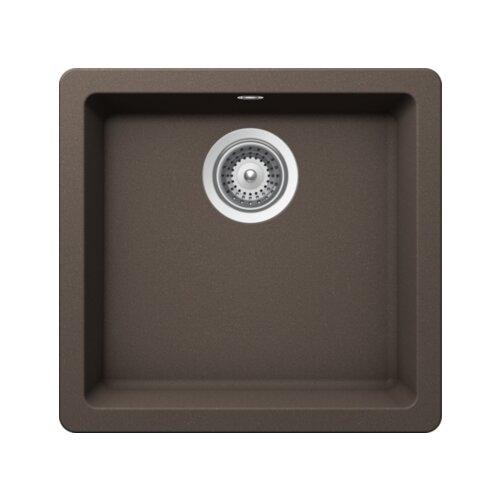 Фото - Врезная кухонная мойка 45 см Schock Quadro N-100S мокка врезная кухонная мойка 45 см schock soho n 100s серебристый камень
