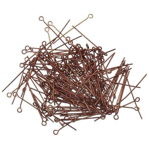 Купить Штифт с петлей Астра, цвет: медь, 30 мм, 50 штук, Astra & Craft, Фурнитура для украшений