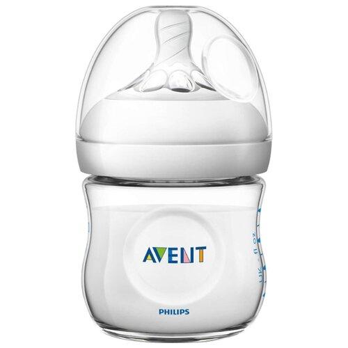 цена на Philips AVENT Бутылочка полипропиленовая Natural SCF030/17, 125 мл с рождения, бесцветный