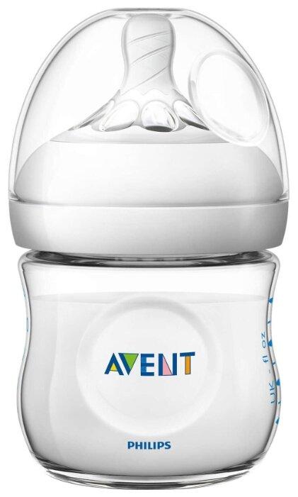 Philips AVENT Бутылочка полипропиленовая Natural SCF030/17, 125 мл с рождения